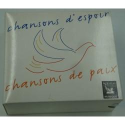 Chansons d'espoir, Chansons de paix - Aznavour/Brassens/Gainsbourg 5CD's Box