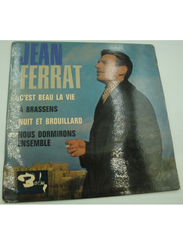 JEAN FERRAT c'est beau la vie/a Brassens/nuit et brouillard EP 1964 Barclay