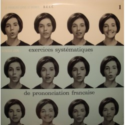MONIQUE LEON exercices systématiques de prononciation française 1 LP RARE VG+