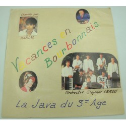 ORCHESTRE STÉPHANE LEROU/KARIM vacances en bourbonnais/la java du 3e age SP 1986