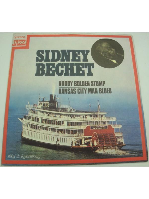"""SIDNEY BECHET buddy bolden stomp/kansas city man blues SP 7"""" 1976 CBS publicité Kronenbourg"""