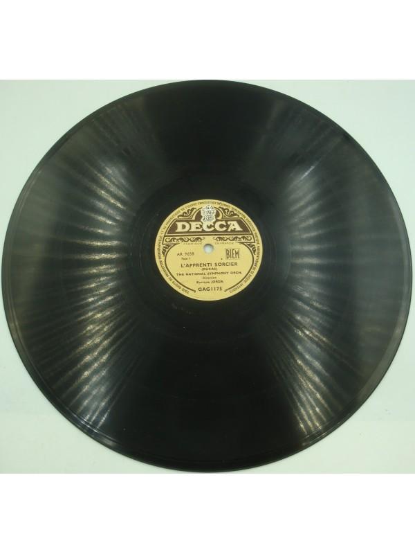ENRIQUE JORDA/THE NATIONAL SYMPHONY l'apprenti sorcier DUKAS 78T Decca