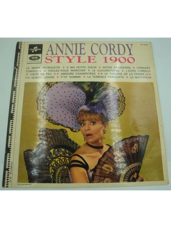 ANNIE CORDY style 1900 LP Columbia - la môme pétrolette/notre parisienne