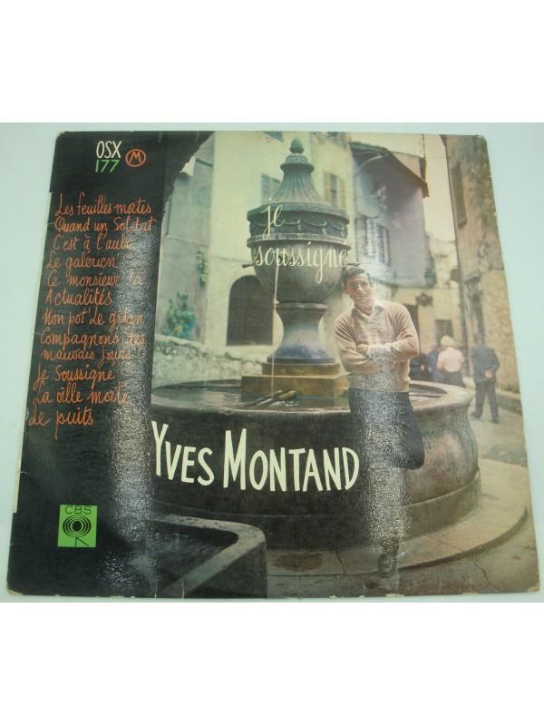 YVES MONTAND je soussigné LP 1956 CBS les feuilles mortes/mon pot' le gitan