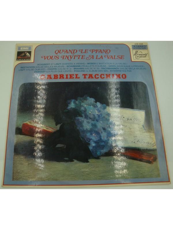 GABRIEL TACCHINO quand le piano vous invite à la danse LP Emi - soirées à Vienne
