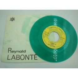 """REYNALD LABONTÉ dany danielle/si to content moi SP 7"""" Green turtle - Color vert"""
