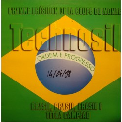 TECHNOSIL brasil brasil - hymne football - tetra Campeao MAXI 1998 VIRGIN VG++