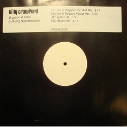 BILLY CRAWFORD urgently in love (4 versions) NONA HENDRYX MAXI WHITE LABEL VG++