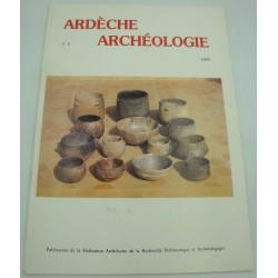 ARDÈCHE ARCHÉOLOGIQUE n°6 - 1989 grotte sépulcrale de Gaude