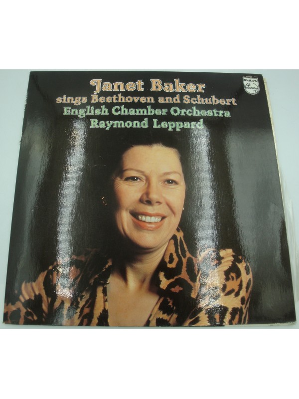 JANET BAKER sings Beethoven and Schubert LEPPARD/English chamber LP 1977 Philips