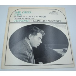 EMIL GILELS sonata n°2 CHOPIN - three preludes and fugues SHOSTAKOVICH LP Seraphim