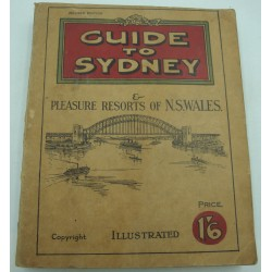 GUIDE to SIDNEY pleasure resorts of n.s. wales - Illustrated - Gold Flake cigarettes