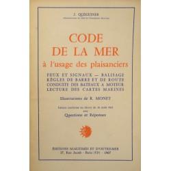 J. QUÉGUINER code de la mer à l'usage des plaisanciers R. MONET 1967 Ed. MARITIMES++