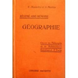 F. MAURETT/J. MARTIN géographie - principales puissances du monde 1930 HACHETTE++