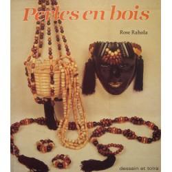 ROSE RAHOLA perles en bois 1986 DESSAIN ET TOLRA artisanat++