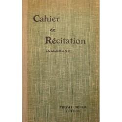 ACADÉMIE DE TOULOUSE cahier de récitation - allemand Ed. PRIVAT++