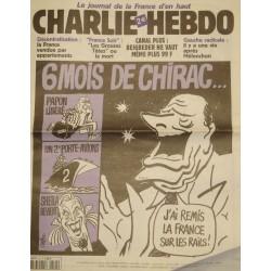 CHARLIE HEBDO 540 6 mois de Chirac CABU/CHARB/WOLINSKI OCTOBRE 2002++