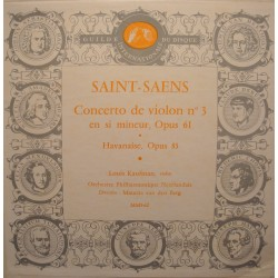 MAURITS VAN DEN BERG/KAUFMAN concerto violon 3/havanaise SAINT-SAENS LP25cm  VG++