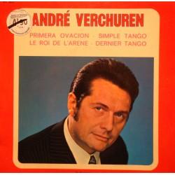 """ANDRÉ VERCHUREN primera ovacion/simple tango/roi de l'arene EP 7"""" VISADISC VG+"""