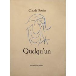 CLAUDE ROZIER quelqu'un VINCENT GONZALEZ illustré 1954 CHALET poesie RARE++