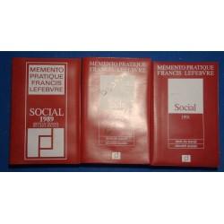 MEMENTO PRATIQUE FRANCIS LEFEBVRE social 1989/90/91 droit du travail/sécurité sociale++