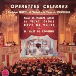 DOMINIQUE CHANTEL/ORCHESTRE DE VALSES DE SCHOENBRUN operette celebres EP VG++