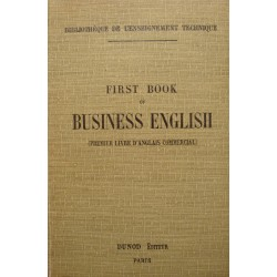 CHAMBONNAUD/TEXIER first book of business english 1920 DUNOD anglais commercial++