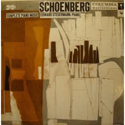 EDWARD STEUERMANN complete piano music SCHOENBERG LP COLUMBIA USA Deardoff VG++