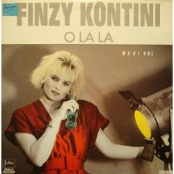 FINZY KONTINI o la la/bass & drums 2 MAXI 1986 JULISA VG++