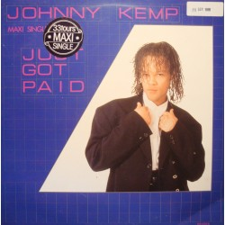 JOHNNY KEMP just got paid (4 versions) MAXI 1988 CBS VG+