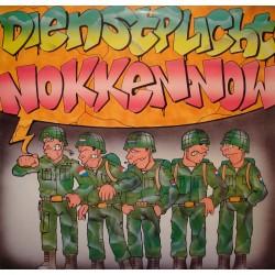 """DIENSTPLICHT, NOKKEN NOW kill/voorwaarts, mars/links MAXI 12"""" militaire VG++"""