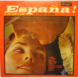 THE SYMPHONY OF STRINGS espana LP 1964 ALLEGRO fiery music of Spain VG++