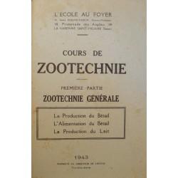L'ECOLE AU FOYER cours de zootechnie T1 Production/alimentation Bétail 1943 RARE++