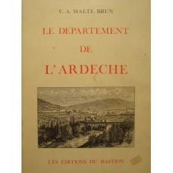 V.A. MALTE-BRUN departement de l'Ardeche 1983 BASTION illustrations carte RARE++