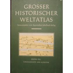 ATLAS HISTORIQUE WELTATLAS 1 herausgegeben vom bayerischen 1954 atlas RARE++