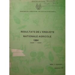 REPUBLIQUE RWANDAISE résultats de l'enquête nationale agricole 1984
