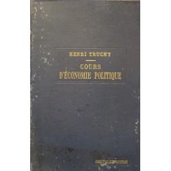 HENRI TRUCHY cours d'economie politique T2 1921 RECUEIL SIREY rare++