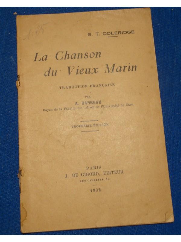 S.T. COLERIDGE la chanson du vieux marin BARBEAU 1932 GIGORD rare++