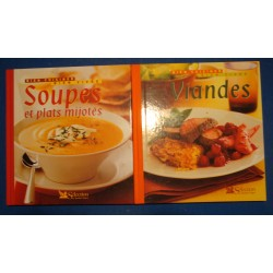 BIEN CUISINER BIEN VIVRE soupes et plats mijotés/viandes 2 LIVRES 2004 EX++
