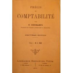 H. DESCHAMPS précis de comptabilité 1913 Vitte - sciences commerciales financières RARE++